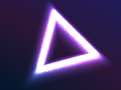 Neon Triangle Shape shape triangle neon effect effect blue purple graphic design graphic illustration gradient vector logo design neon lights neon