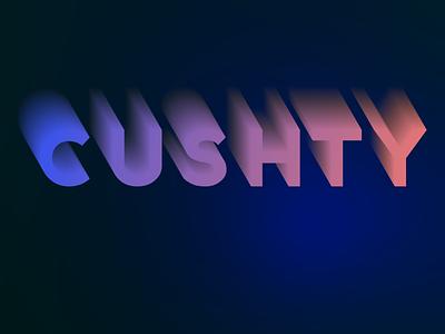 Blended Lettering illustrator blend dark blue typography gradient graphic design vector design