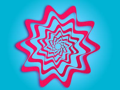Candy Illusion graphic design grain blue pink illustration vector design