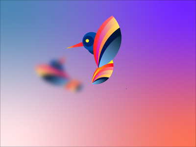 Abstract Bird graphic design abstract gradients vector design illustration