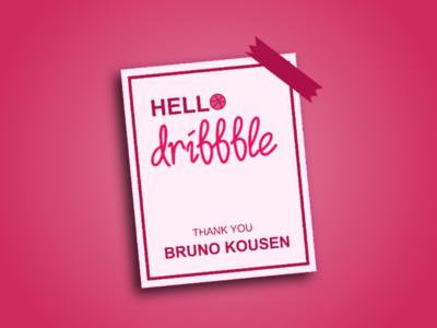HELLO DRIBBBLE!!!!!!!!!!