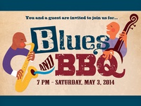 Blues and BBQ Invitation