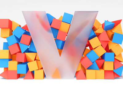 My V letter for 36dayoftype challange 36daysoftype typogaphy type c4d 3d artist cube isometric design isometric art isometry 3d art cinema4d 3d 2d cute after effects vector