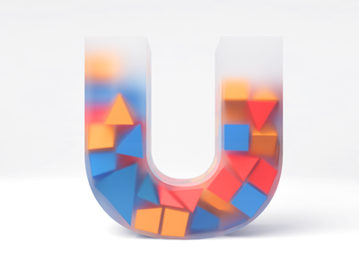 My U letter for 36dayoftype challange lowpolyart lowpoly 3dartist 3dart cinema4d 3d after effects vector