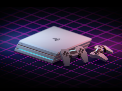 PS4 motiongraphics illustration 3d art cute ps4 cinema4dr20 c4d isometric illustration isometric art isometric isometry 3d lowpoly