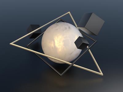 Abstract geometric graphics materials illustration c4d cinema4d 3d artist 3d art geometry 3d