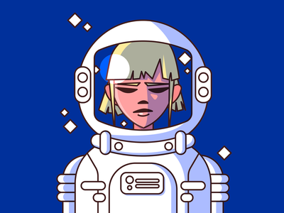 alter ego cosmonaut adobe illustrator illustration character 2d cute vector