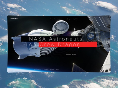 Spacex Homepage Concept 2 digital layout nasa space spacex web interface concept ui