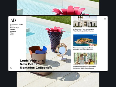 AD Concept layout minimal design web interface ui feed news concept magazine architecture