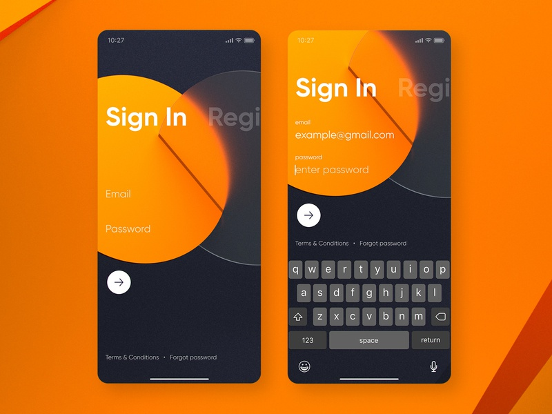 Cradle: Sign In iphone bank banking mobile cradle finance fintech sign up sign in interface ios app ux ui