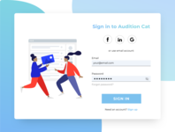 Audition Cat Sign-In Redesign