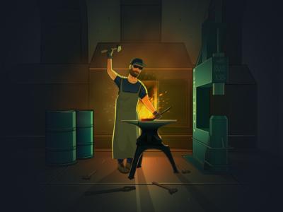 Blacksmith illustration