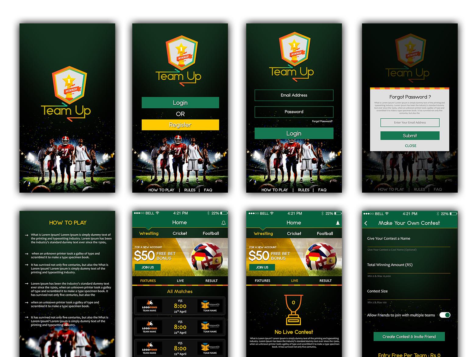 Wresling Banner ux ui app design adobe photoshop logo adobe illustrator