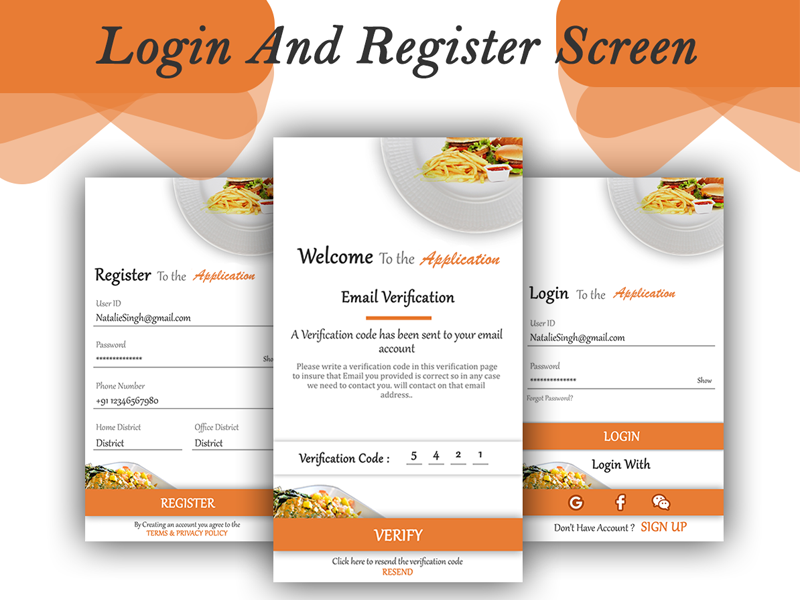 Restaurent Login Register B icon app ux ui logo design adobe illustrator adobe photoshop