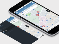 Bus Tracking App bus tracking blue minimal app ios ux ui development map