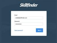 Skillfinder web minimalist project ui search login