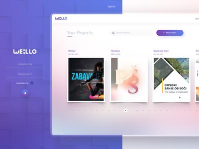Web App Dashboard Design desktop design app web psd header blurred project banner purple dashboard