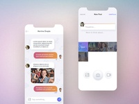 Chat & New Post Screen