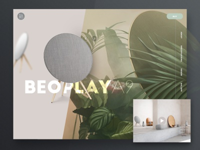 Product page design website room video leaf nature header soft tech speaker speakers photoshop page landing product web