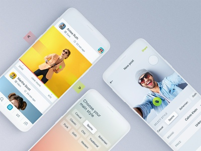 Fashion Social App mobile android ios fashion style uiux ux ui network social app