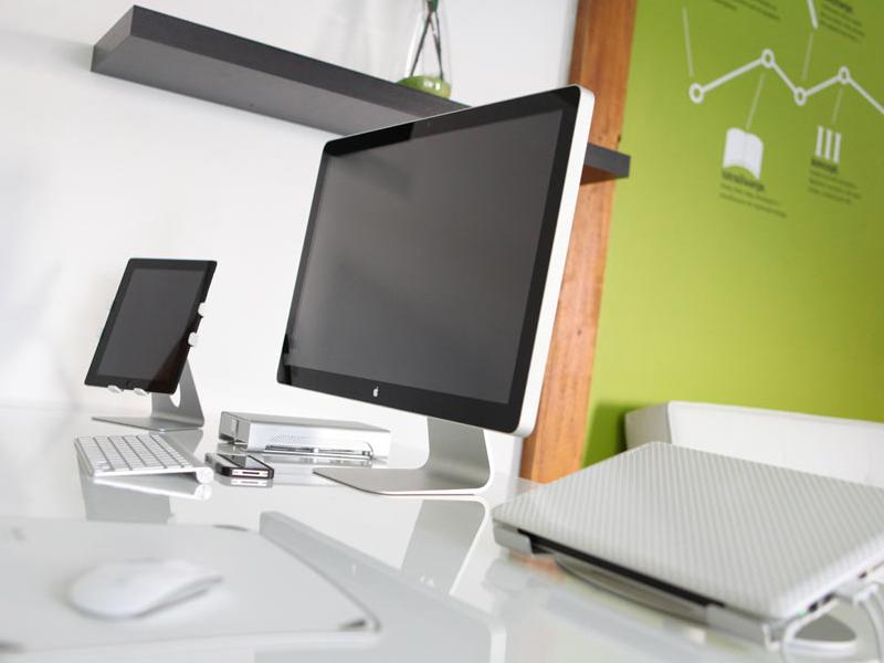 My workspace in design studio workspace desk cinema ipad iphone macbook pro noxia office