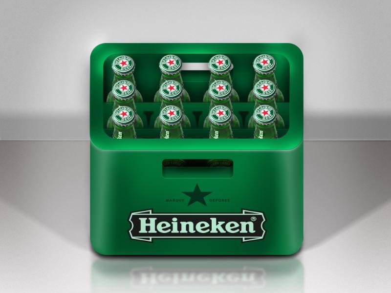 Heineken Icon heineken icon bottle crate photoshop beer app