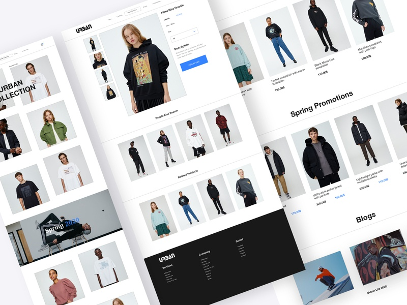 Urban Style E-commerce features feature trendy minimalism ux  ui product design motion mobile tbilisi typography web branding minimal ux ui web design ui design adobe xd web concept ux design