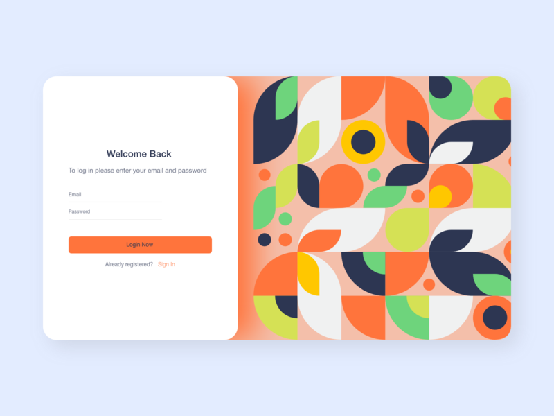 Sign in UI colors pattern shape sign landing page landing mobile app mobile ui sign in sign up tbilisi typography design ux ui web design ui design adobe xd web concept ux design