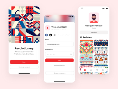App Concept UI georgia color pallet colors web application app mobile design mobile ui mobile app mobile tbilisi typography branding ux ui web design ui design adobe xd web concept ux design