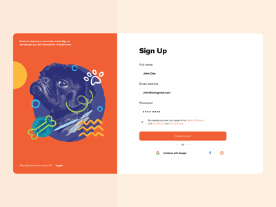 Sign In/Up xd design sign george georgia landing landing page page design sign in sign up tbilisi typography illustration icons ux ui web design ui design adobe xd web concept ux design