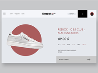 Reebok Web & Ui/Ux Design!