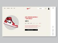 Nike Air Jordan Retro Web & Ui/Ux Design.