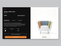 Modern Chair Web & Ui/Ux Design