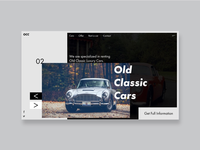Old Classic Cars rent Web & Ui/Ux Deaign.