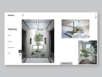 Modern interior Web & Ui/Ux Design.