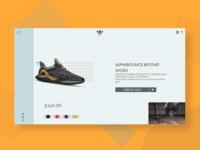 Adidas Sneaker Web Landing Page.