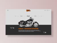 Harley - Davidson motorcycle Web Design
