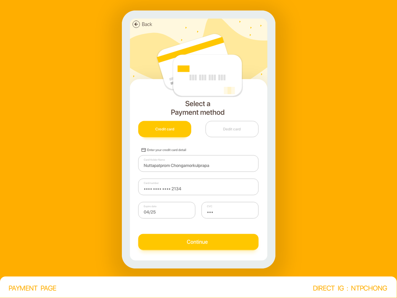 DailyUI | Mobile | Creditcard Checkout app ui illustration design