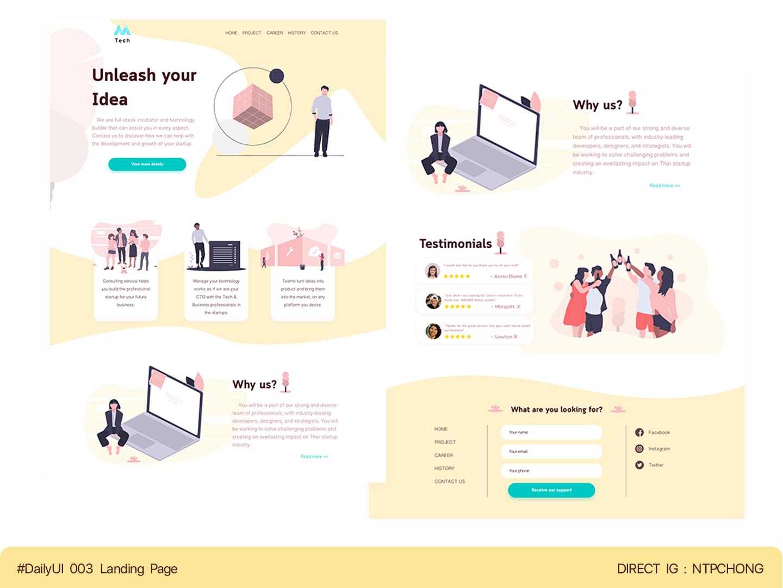 DailyUI | Desktop | Landing Page ux website illustration web ui design
