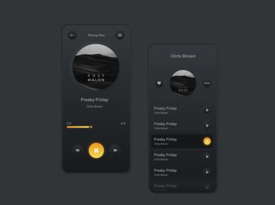 Music Player App designowebtechnologies icon services ui ux gradient creative photoshop designoweb illustration