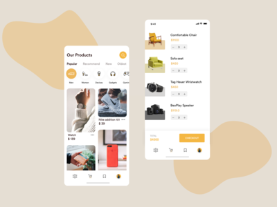 Simple E-Commerce  Mobile Ui
