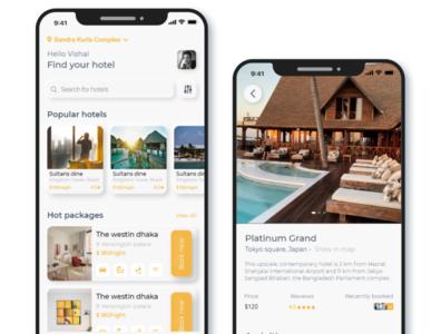 Hotel Booking UI booking hotel booking design art webdesign appdesign services logo light branding icon ux ui illustration creative gradient design designoweb