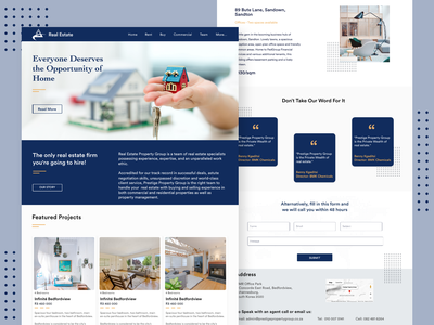 Real Estate -Landing Website dark services websites uiux minimal background realstate theme gradient projects illustration checkbox menubar icon design creative landing page adobe xd ui designoweb
