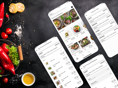 Food Delivery Application UI Design mobile design mobile app mobile ui designoweb illustrator food app food delivery app