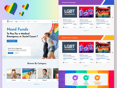 Donate 24 - Fund Raising for the LGBT Community minimal ux ui gradient website design webdesign website designoweb
