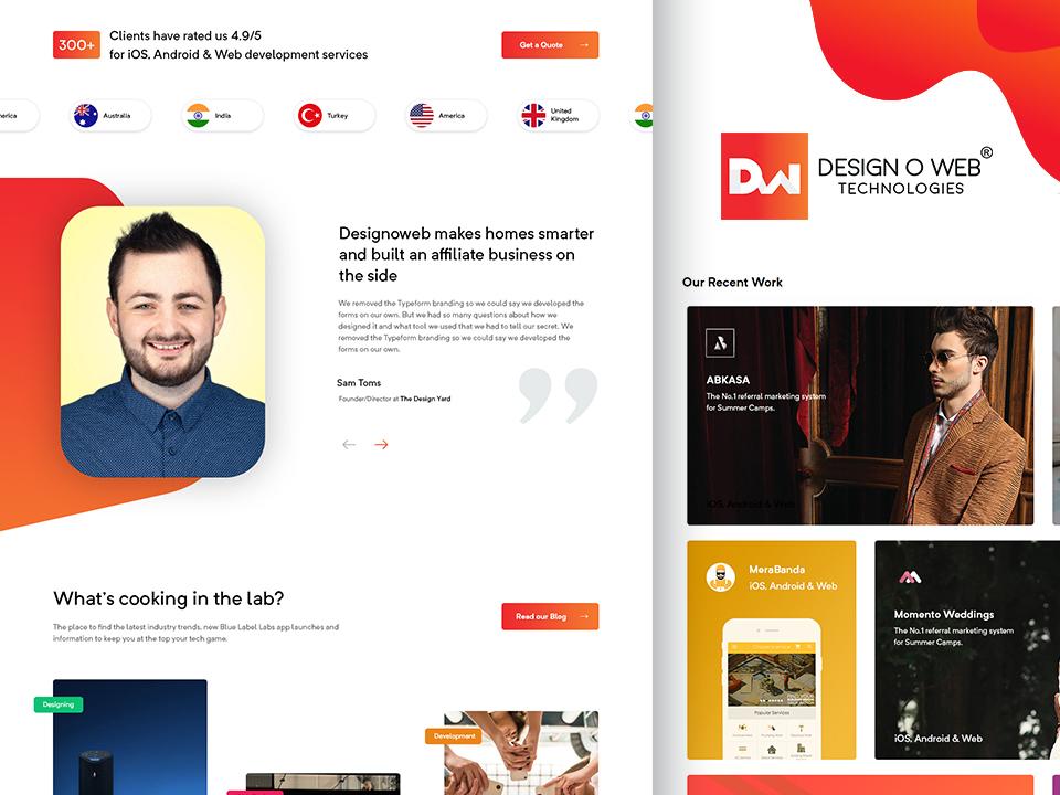 Designoweb - Company Web Design by Designoweb® on Dribbble