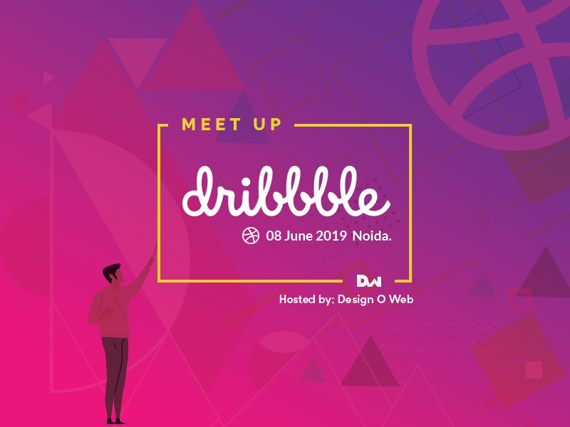 Dribbble Meetup Noida font flat icon ux services logo creative typography branding ui photoshop graphic  design shapes design dribbble illustration gradient colors meetup dribbble meetup