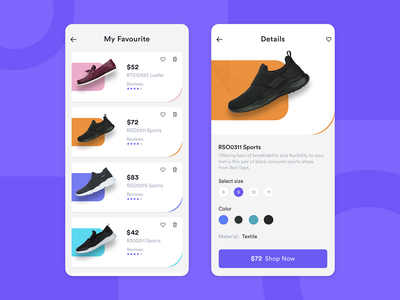 Shoes App (Listing & Detail) - Ecommerce