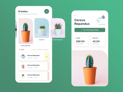 Plant Care App designowebtechnologies designoweb services photoshop colors ux ui gradient protect earth green conservation friendly simple design mobile app mob app plant app care plant