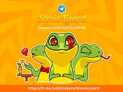 Stevie Lizard lizard telegram stickers